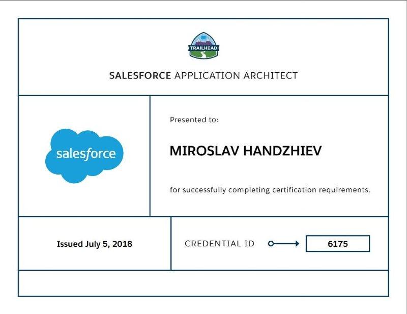 Miroslav Handzhiev Certificate