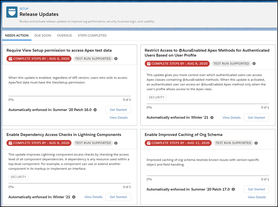 salesforce release updates